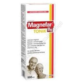Magnefar B6 Tonik płyn 500 ml