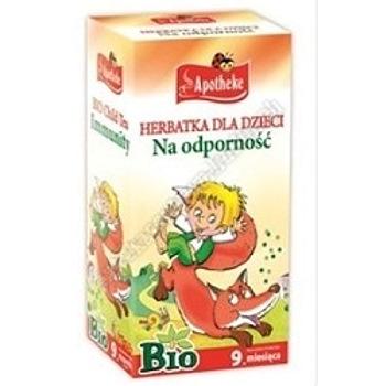 Herbatka dla dzieci na odporność BIO 20x 1,5g APOTHEKE (Dzika róża i rokitnik)
