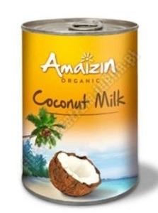 Mleko kokosowe 17% tłuszczu BIO 400ml AMAIZIN