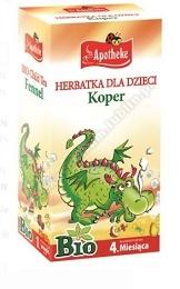 Herbatka dla dzieci- koper BIO 20x 1,5g APOTHEKE (KOPER WŁOSKI,MELISA,MIĘTA)