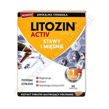Litozin Activ tabl. 30 tabl. (2x15) data waż.30.06.2020r