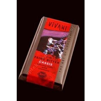Czekolada gorzka z nadzieniem z czarnej porzeczki BIO 100g VIVANI