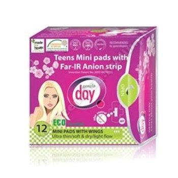 Podpaski higieniczne mini z paskiem anionowym (teens) 12szt GENTLE DAY