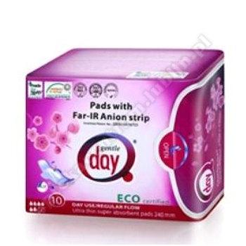 Podpaski higieniczne na dzień z paskiem anionowym 10szt GENTLE DAY