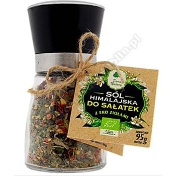Sól himalajska w młynku z ziołami do sałatek BIO 95g DARY NATURY