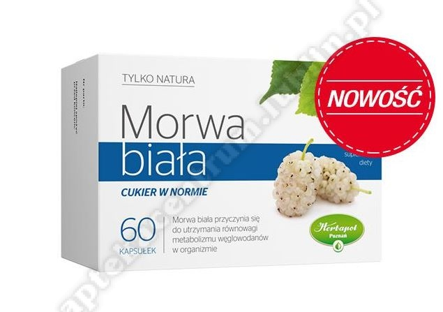 Morwa Biała cukier w normie 60 kapsułek-d.w.2020.03.30