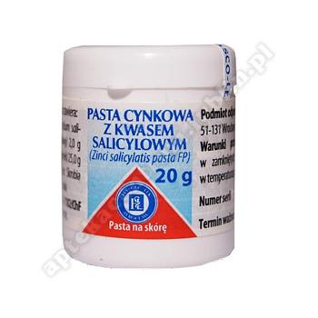 Pasta cynkowa z kwasem salicylowym maść 20 g