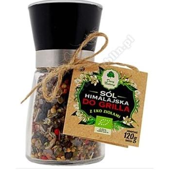 Sól himalajska z ziołami w młynku do grila 120g DARY NATURY
