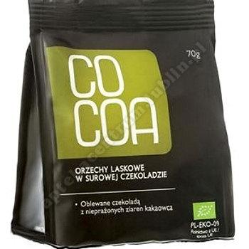 Orzechy laskowe w surowej czekoladzie BIO 70g COCOA