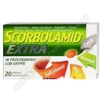 Scorbolamid EXTRA tabl.drażow. 0,3g+0,2g+0