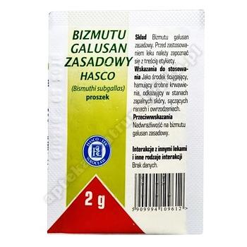 Bizmutu galusan zasadowy Hasco (Dermatol)