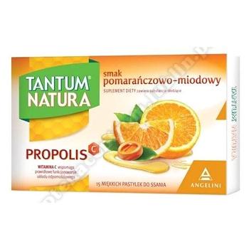 TANTUM NATURA smak pomarańczowo-miodowy 15 pastylek.