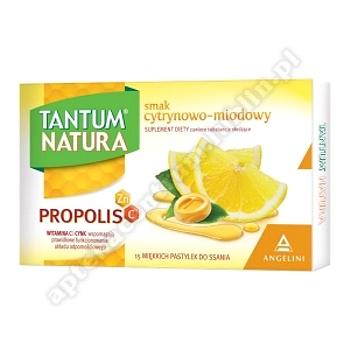 TANTUM NATURA smak cytrynowo-miodowy 15 pastylek