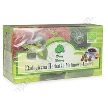 Herbatka lipowo- malinowa BIO 20x 2,5g DARY NATURY