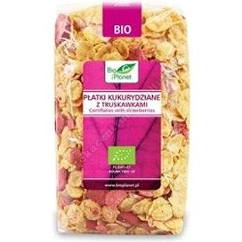 Płatki kukurydziane z truskawkami BIO 250g BIO PLANET