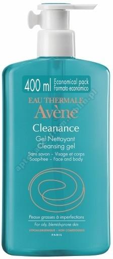 AVENE Cleanance żel 400ml+próbki kremu gratis!