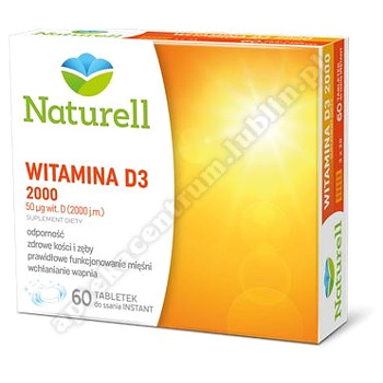 NATURELL Witamina D3 2000 tabl.do ssania 60