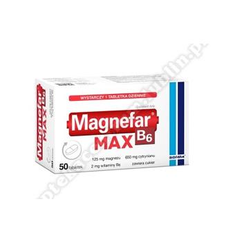 Magnefar B6 MAX tabl. 50 tabl.