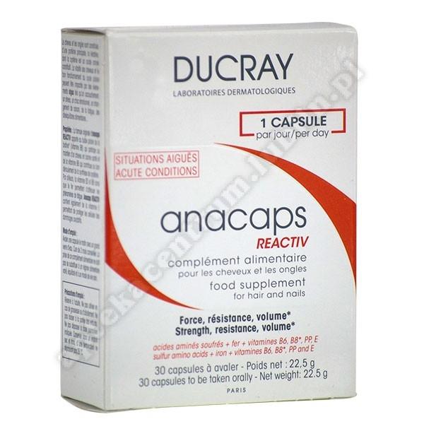 DUCRAY Anacaps Reactiv kaps. 30 kaps.