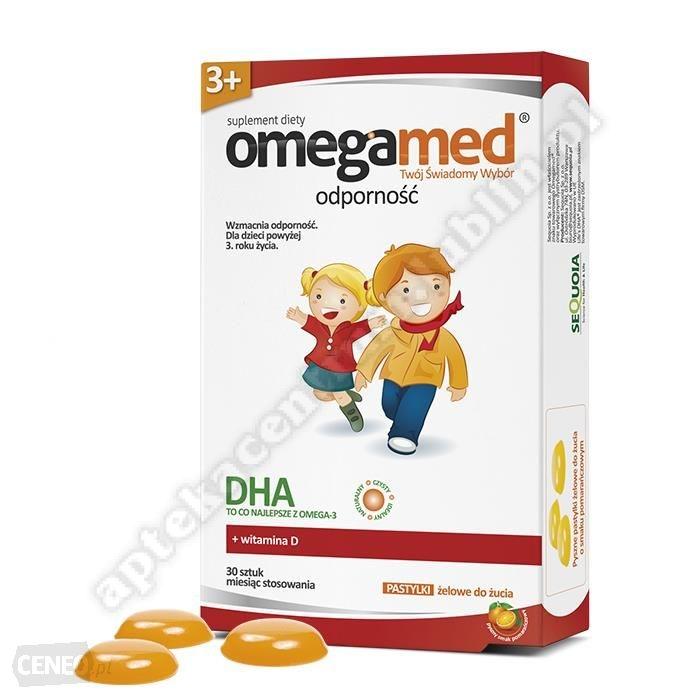 Omegamed Odporność 3+ pastylki żelowe do żucia 30 pastylki