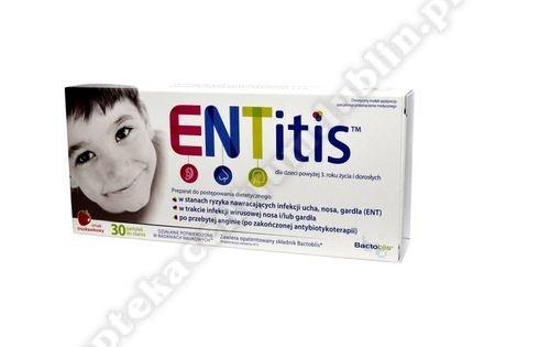 ENTitis sm.truskawkowy pastyl.dossania 30p
