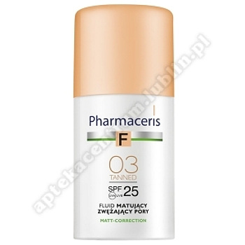PHARMACERIS F Fluid matuj.03 TANNED SPF25