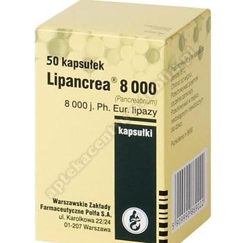 Lipancrea 8000 kaps. 8000j.Ph.Eur. 50kaps.