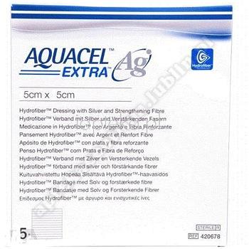 Opatr. AQUACEL Ag Extra hydrofib. z dod.srebra 10cm x10cm 1szt