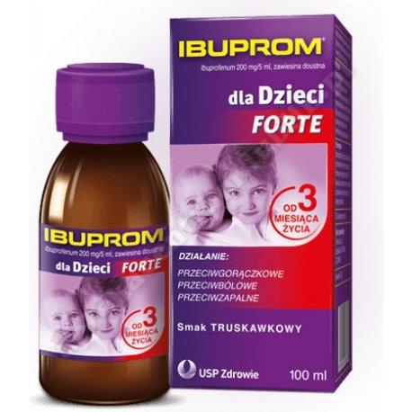 Ibuprom dla Dzieci Forte zaw.doust. 0,2g/5ml 100ml
