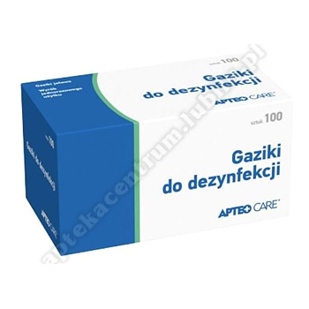 Gaziki do dezynfekcji ApteoCARE 100szt.