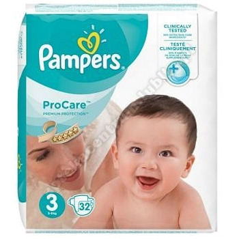 Pampers Pro Care 3 (32 szt) pielucha 32szt