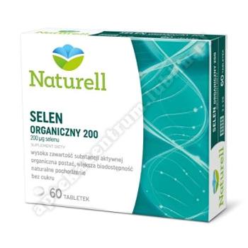 NATURELL Selen Organiczny 200 tabl. 60 tabl