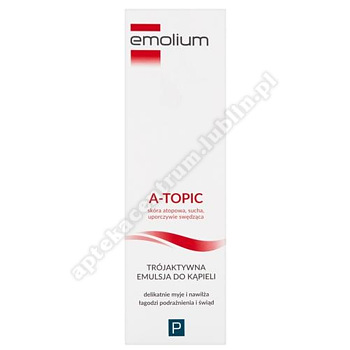EMOLIUM A-TOPIC Trójaktywna Emulsja do kąpieli 200 ml