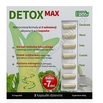 DETOX MAX kaps. 21 kaps.