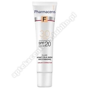 PHARMACERIS F Fluid kryjący dla skóry naczynkowa 30 ml
