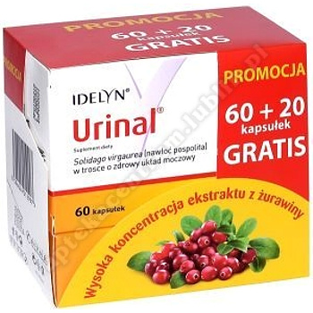 Urinal 60+20 gratis kaps.