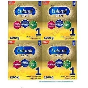 ENFAMIL PREMIUM MFGM 1  mleko prosz. 1200g x4-pack