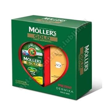 Mollers Gold Tran Norweski + Dermika Gold krem na noc 50ml