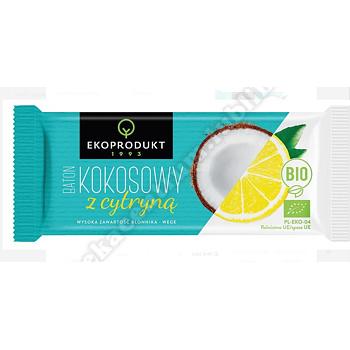 Baton kokosowy z cytryną BIO 30g  EKOPRODUKT