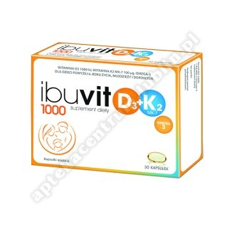 Ibuvit D3 1000 + K2 MK-7 Omega 3 kaps.mięk. data ważności 2020.10.31