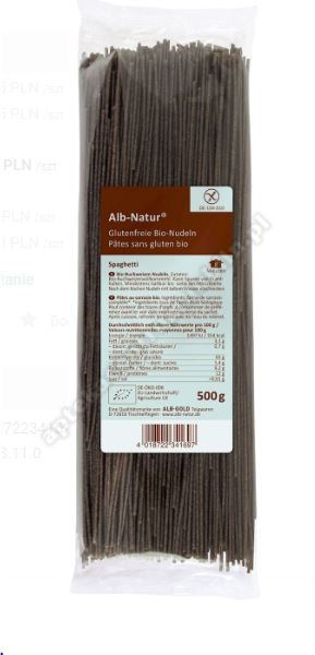 Makaron gryczany spaghetti bezglut. 500g Alb-Gold