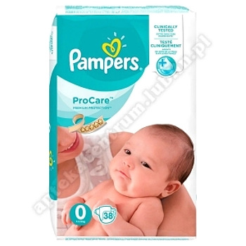 Pampers Pro Care 0 (38 szt) pielucha 38szt