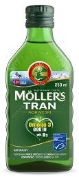 Mollers Tran Norweski naturalny płyn 250 ml+ Alfa i Omega rodzinna gra Dooblo GRATIS!