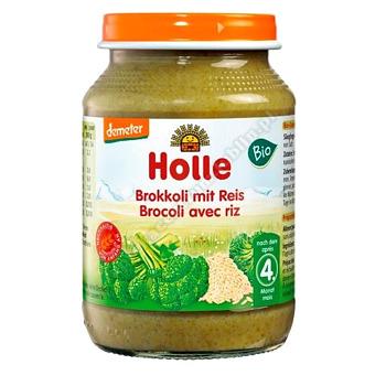Holle Danie dla niemowląt brokuły-ryż BIO