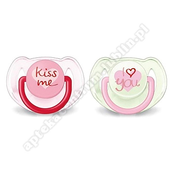 "AVENT smoczek do uspokajania seria "" I love you "" 6-18 m 2 szt"