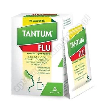 Tantum Flu smak cytrynowy prosz.dosp.rozt.10 sasz