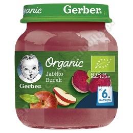 GERBER Deser organic jabłko- burak 125 g