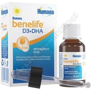 Humana benelife D3+DHA płyn 15 ml