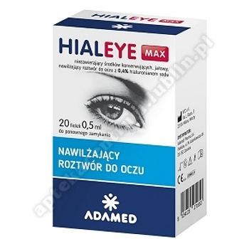 HIALEYE MAX 20 fiol.a 0,5ml-d.w.2021.03.30