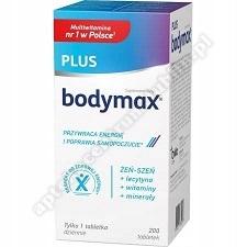 BODYMAX PLUS Lecytyna Witaminy i Żeń-szeń 200 tabletek+Gra Rodzinna Alfa i Omega GRATIS